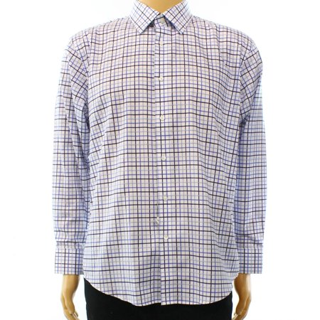 Nordstrom Rack New Blue White Mens Size 16 1 2 Trim Fit Dress Shirt