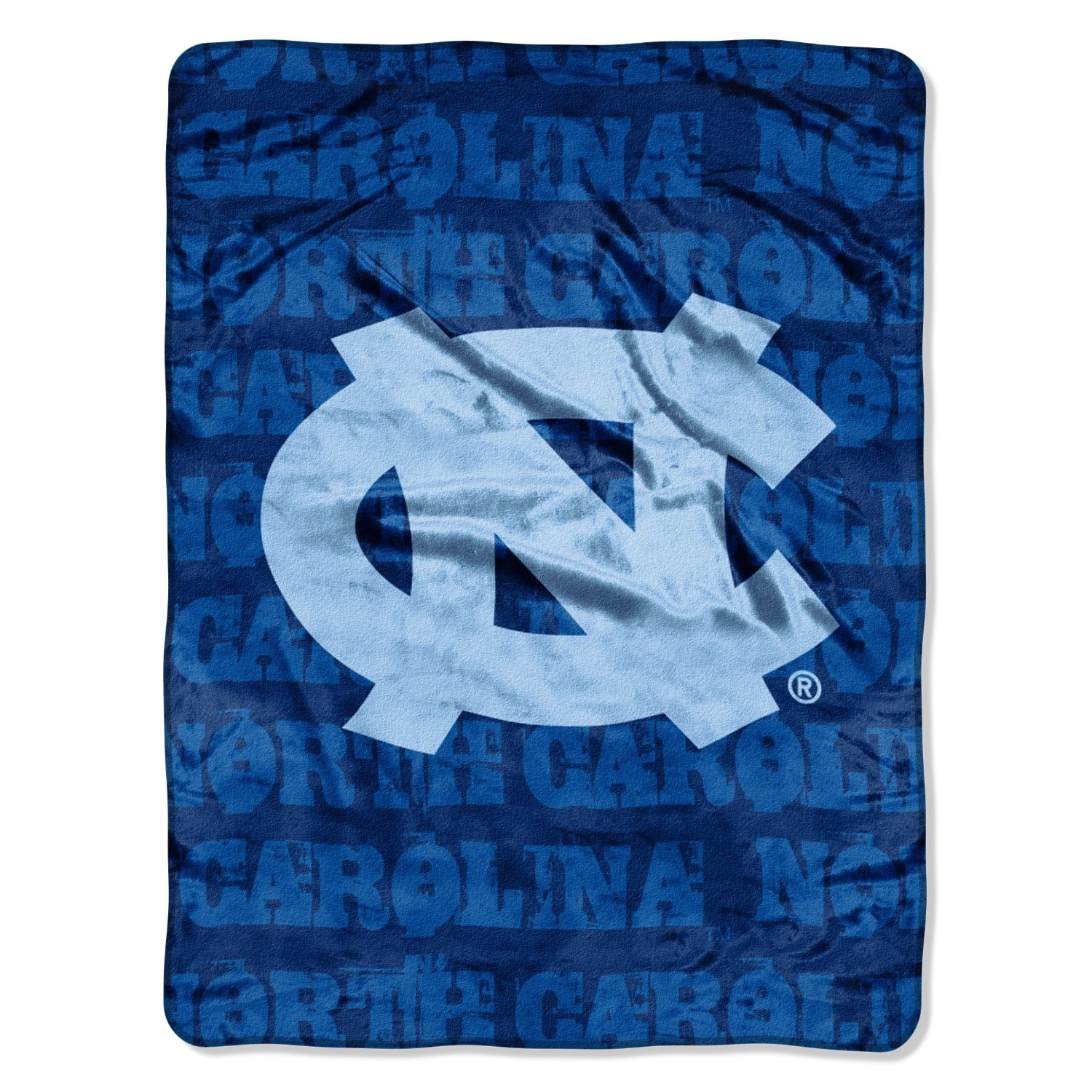 North Carolina Tar Heels 46x60 Grunge Design Micro Raschel Plush Throw