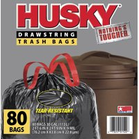 Husky Large Trash Bags, 30 Gallon, 80 Bags
