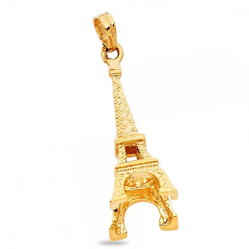 14k Eiffel Tower Pendant