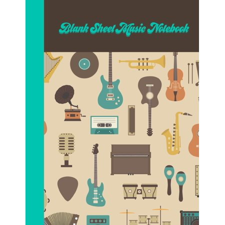 Blank Sheet Music Notebook : Songwriting Journal With Guitar (Ballad Of The Goddess Ocarina Sheet Music)
