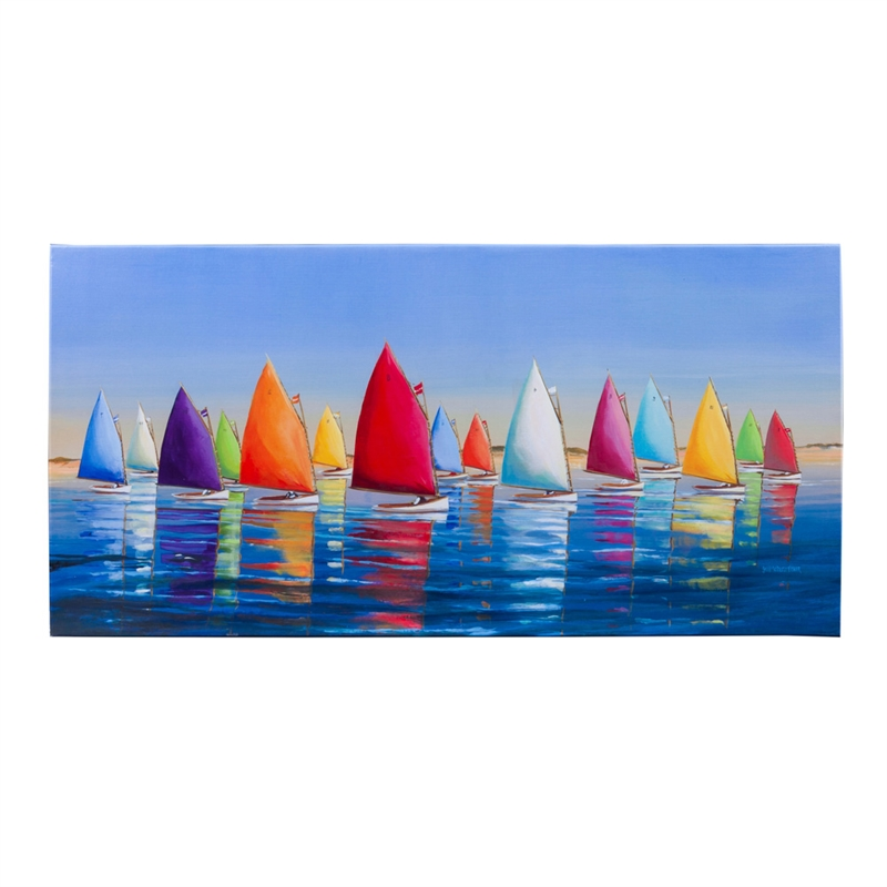 Wall Decor, Outdoor Wall Canvas 18X36, Flying Colors, Wall Decor, Wood and Canvas,36x1.5x18 Inches