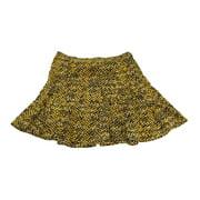 Michael Michael Kors Taxi Yellow Python-Print Flared Skirt  16
