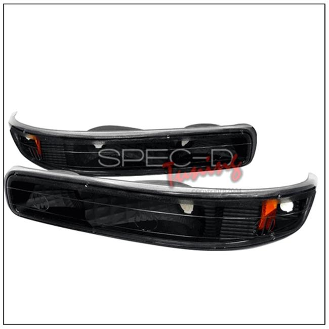 Bumper Lights for 99 to 02 Chevrolet Silverado, 6 x 18 x 22 in. - Black