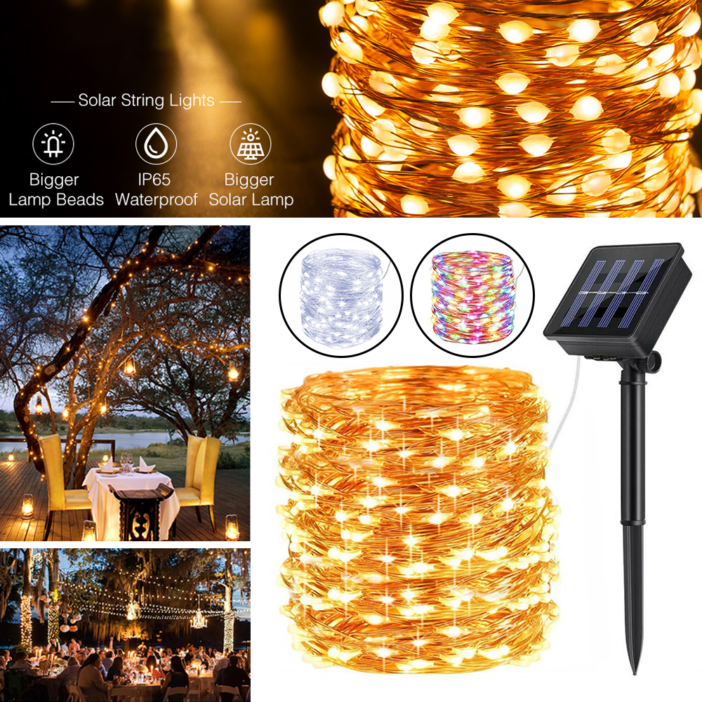 Details about  /Solar String Lights Fairy 30 LED Christmas Outdoor Party Drop
