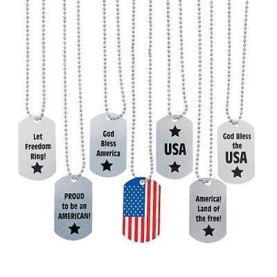 IN-35/956 Patriotic Dog Tag Necklaces  By Fun Express (Dog Tag Necklaces)
