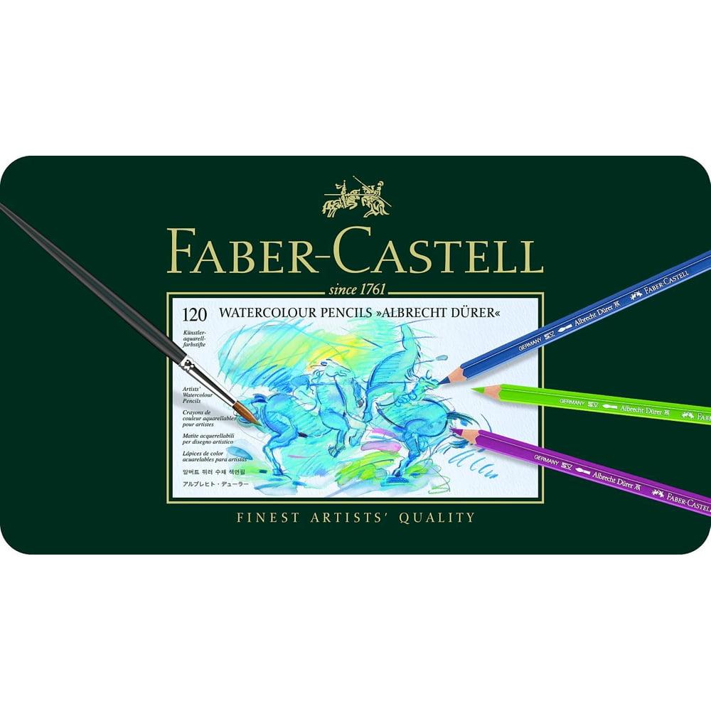 Faber-Castell Albrecht Durer Watercolor Pencil Tin, Set of 120 Colors (FC117511)