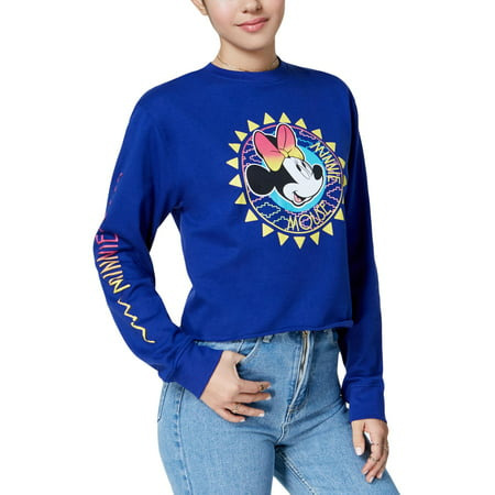 Freeze 24/7 Womens Juniors Minnie Mouse Graphic Cropped (Freeze 24/7 Ice Crystals)