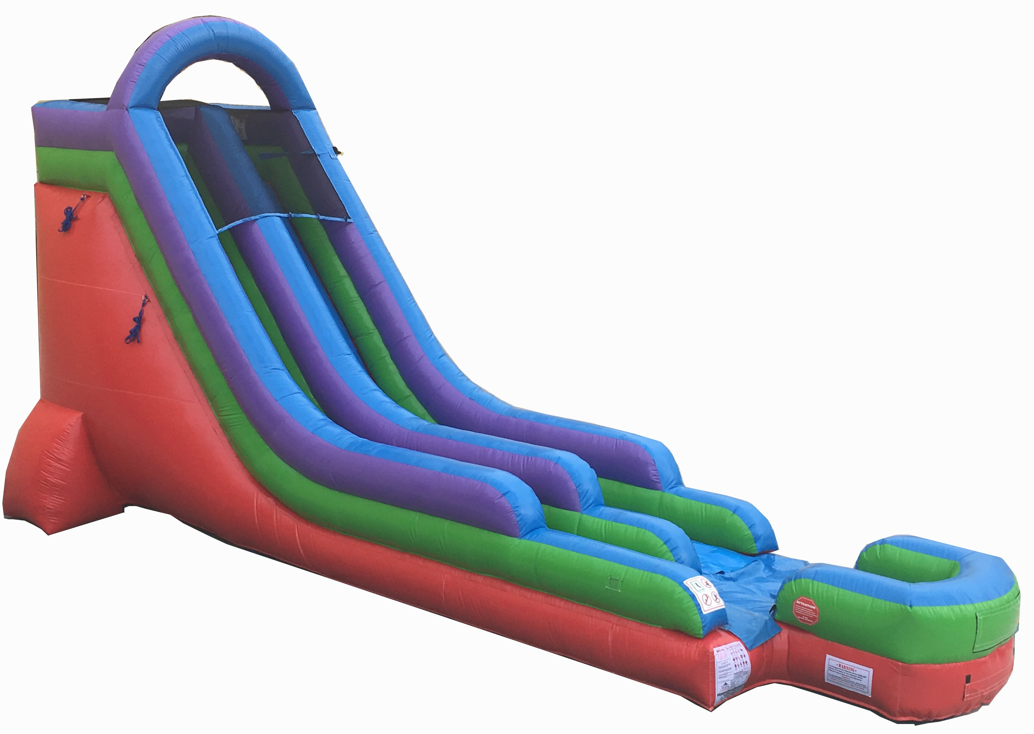 Pogo 18' Retro Commercial Kids Jumper Inflatable Waterslide with Blower by Pogo Bounce House