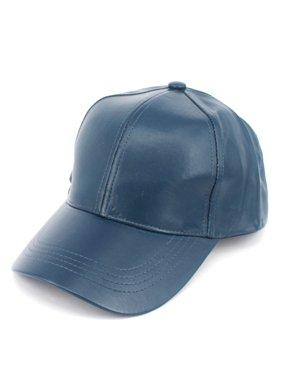 dcef08f520795 Product Image NYFASHION101 Faux Leather Adjustable Snapback Baseball Cap Hat  - Beige