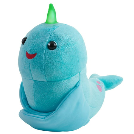 Fingerlings HUGS - Nikki (Blue Glitter) - Interactive Plush Narwhal