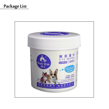 120 Pieces Pet Eye Wet Wipes Dog Cat Tear Stain Remover Pet Eye Grooming Wipes - image 3 of 10