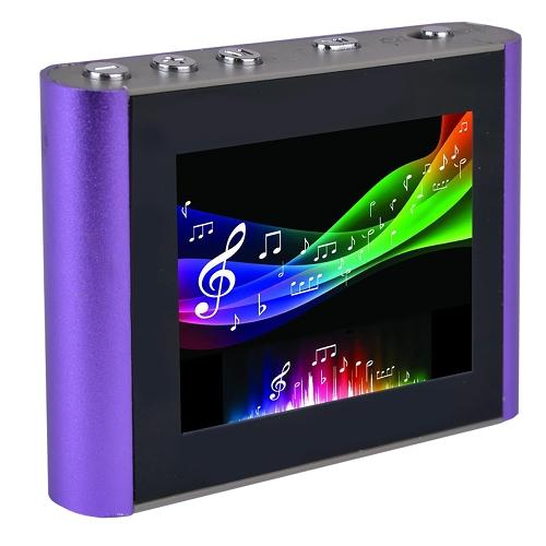 "Refurbished Eclipse T180 1.8"" 4GB MP3 USB 2 Clip Style Digital Audio LCD Video Player-Purple"