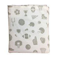 Pillowfort Sheet Set Gray Sports Themed Twin Bed Size Cotton Sheets