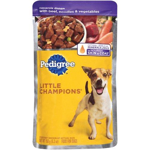 Pedigree Little Champions Dog Food, Casserole Dinner with Beef, Noodle & Vegetables Dog Food, 5.3 oz