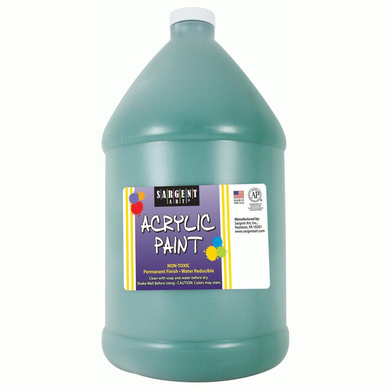 Sargent Art® Acrylic Paint, Green, 64 oz. Bottle (Half Gallon)
