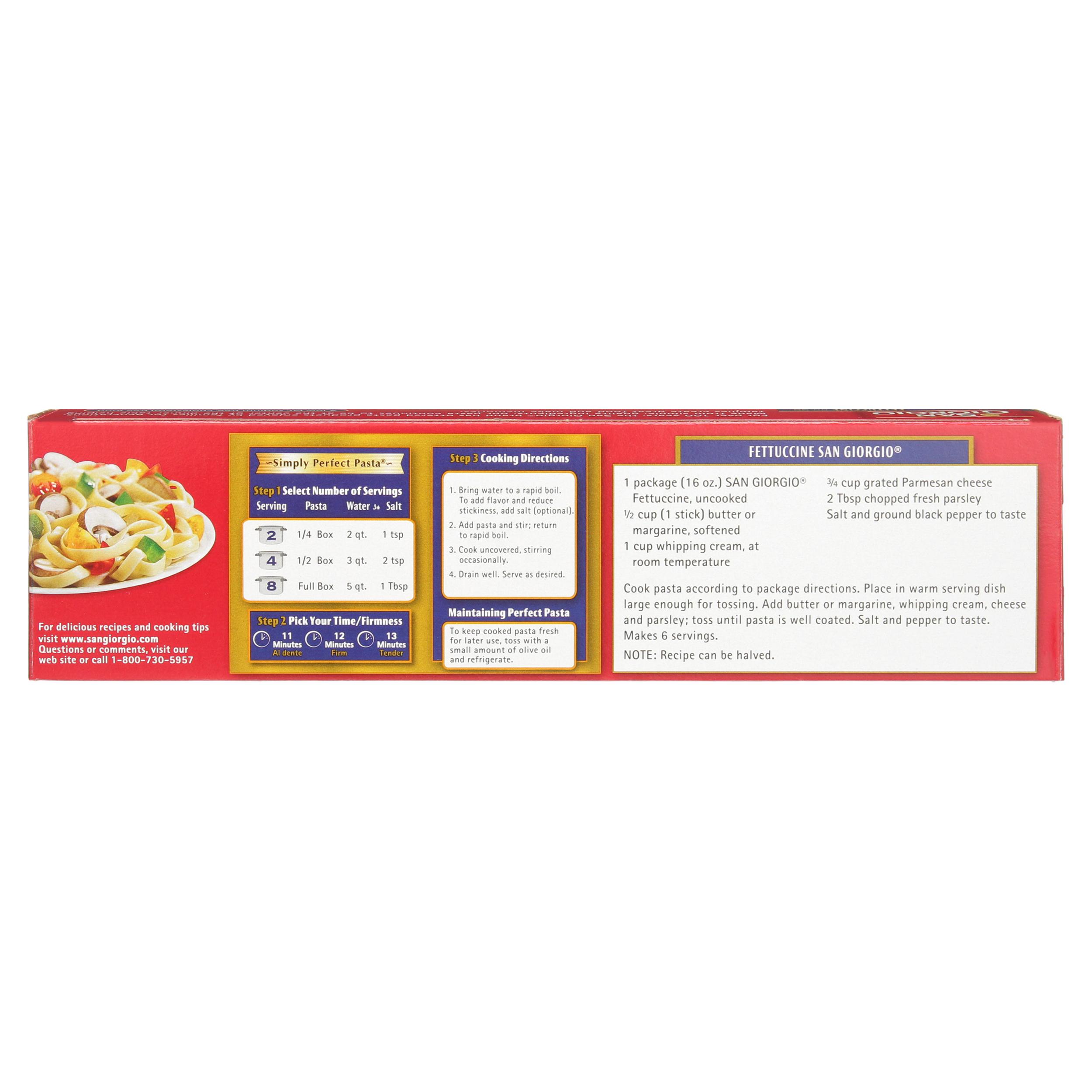 San Giorgio Fettuccine Pasta 16 Ounce Box Walmart Com Walmart Com
