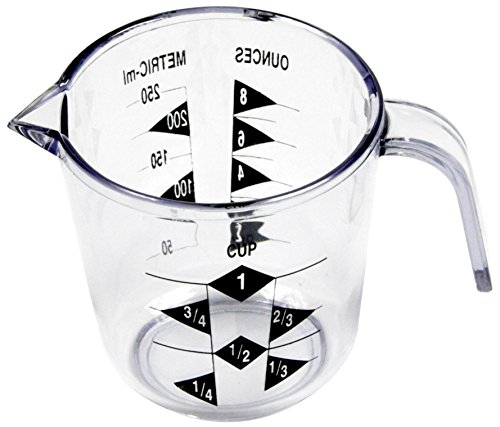 White with Blue 4-Piece 6.375-Inch Chef Craft Plastic Measuring Cups