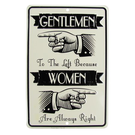 Men Left Women Always Right Funny Bathroom Sign Novelty Bar Pub Home Wall Decor (Left To Right Halloween Story)