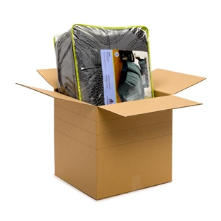 18L x 18W x 18H in. Multi-depth Recycled Kraft Moving Boxes, 20 count