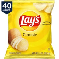 Lay's Potato Chips, Classic, 1 oz Bags, 40 Count