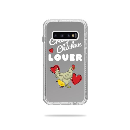 Skin For Lifeproof Next Case Samsung Galaxy S10 - Crazy Chicken Lover | MightySkins Protective, Durable, and Unique Vinyl Decal wrap cover | Easy To Apply, Remove, and Change (S10 Crank)