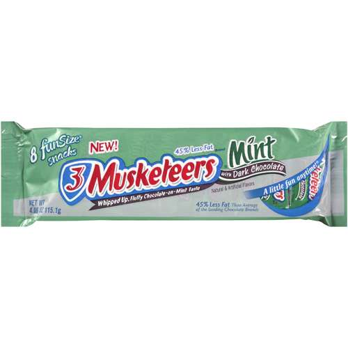 3 Musketeers: With Dark Chocolate Mint, 4.06 oz