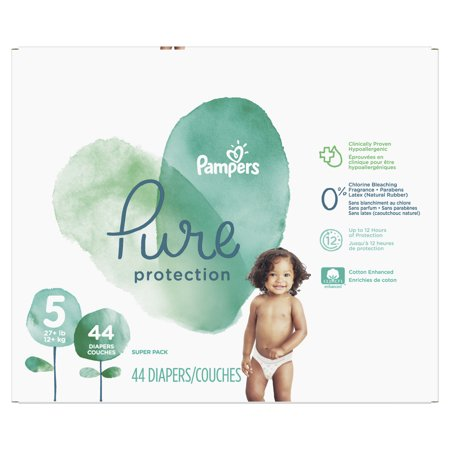 Pampers Pure Protection Diapers Size 5 44 Count