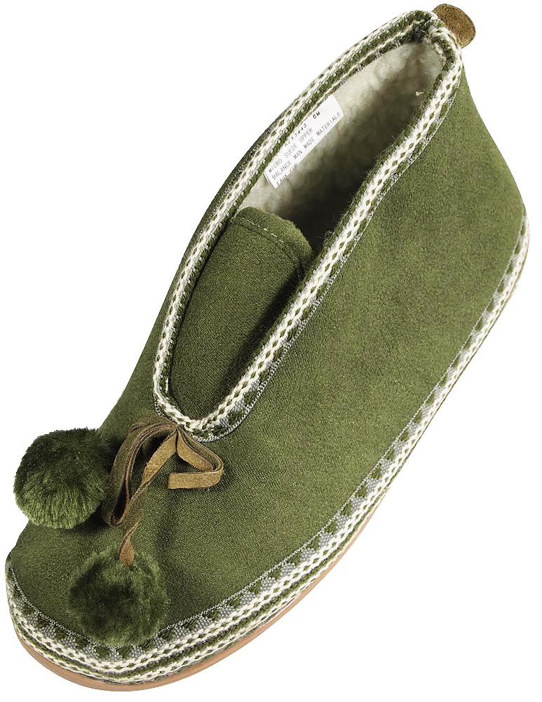 Deer Stags Ladies Mutsy Slipperooz Suede Slipper Faux Sherling Lining 30 Day Guarantee FREE SHIPPING by