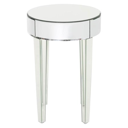 - Mirrored Round Side Table