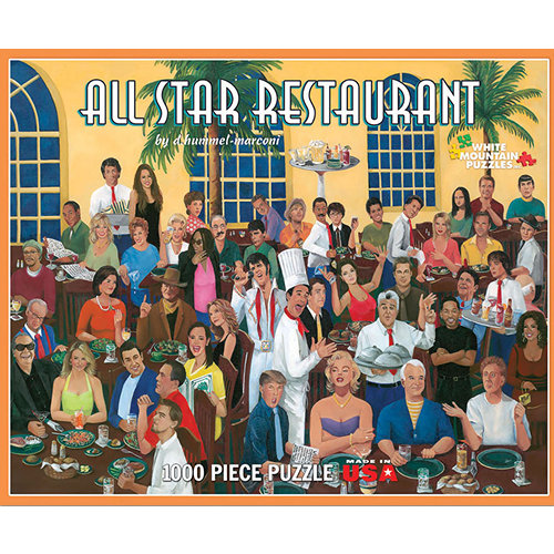 All Star Restaurant 1000 Piece Puzzle,  Classic Movies by White Mountain Puzzles