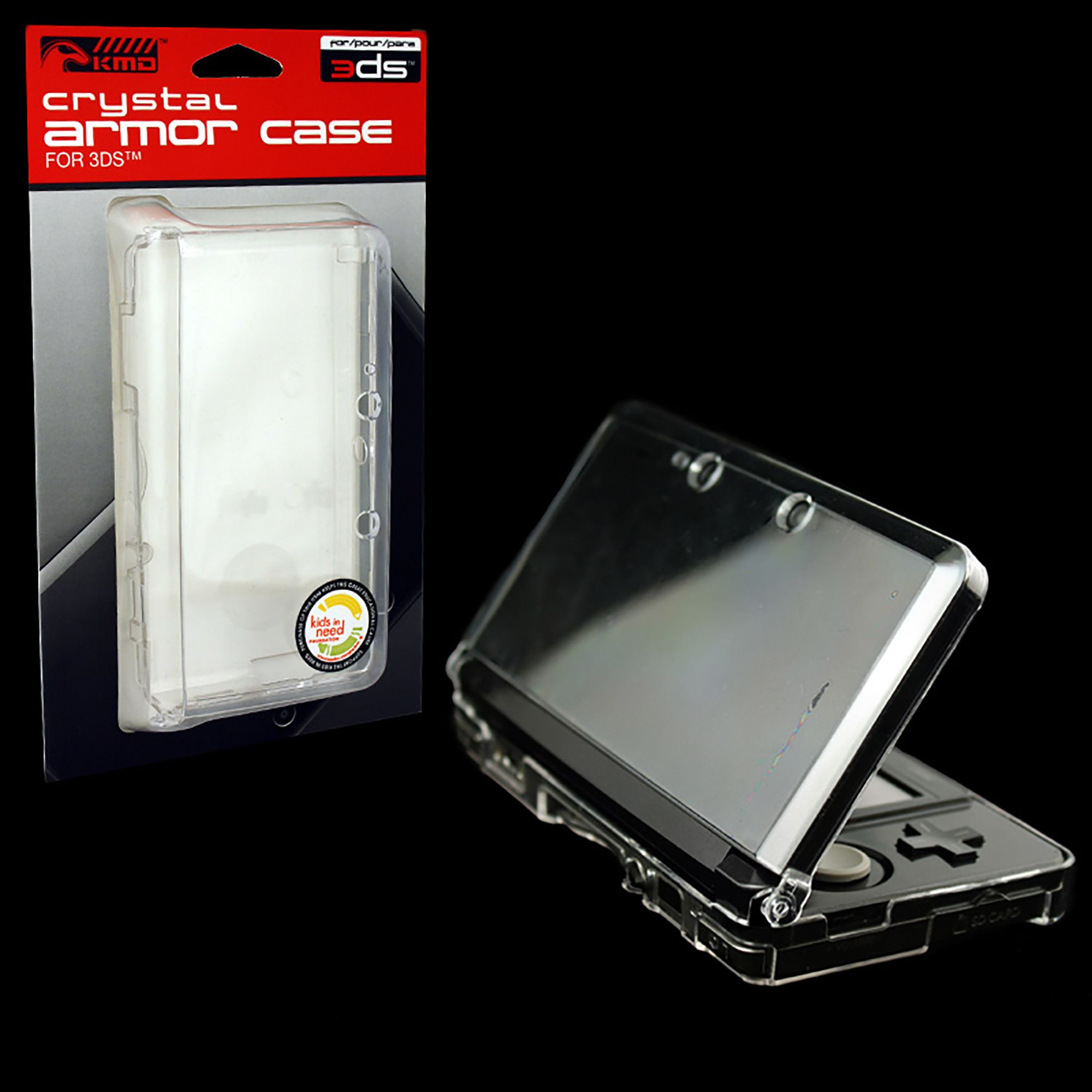 For Nintendo 3DS CLEAR Crystal Protective Armor-Case KMD (Shell Hard Cover)