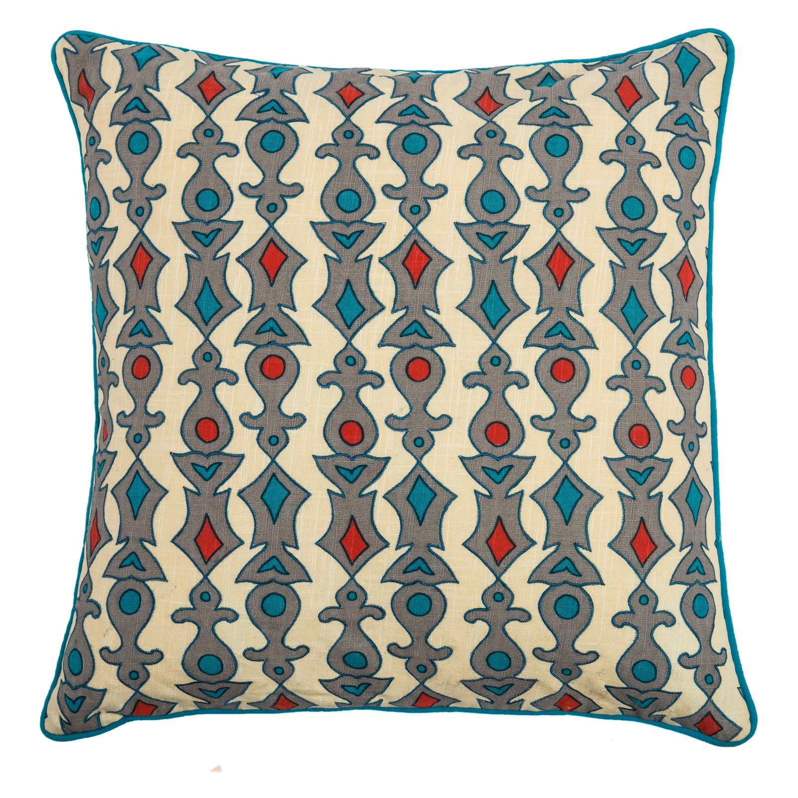 """Rizzy Home Decorative Poly Filled Throw Pillow Geometric 20""""X20"""" Yellow"""