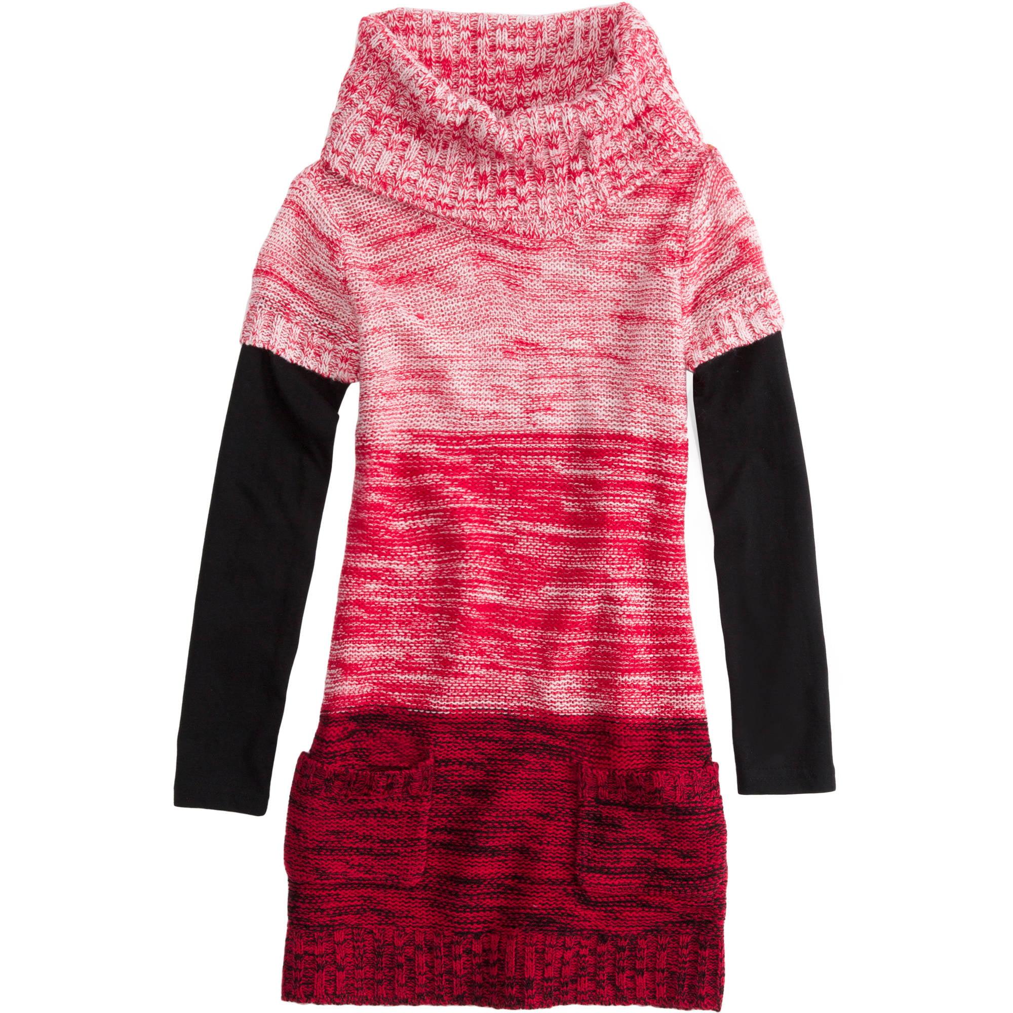 L.E.I. Girls' Tunic Sweater Dress - Walmart.com