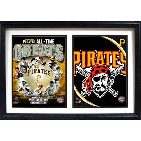 Black American League Frame - MLB Pittsburgh Pirates Greats 12