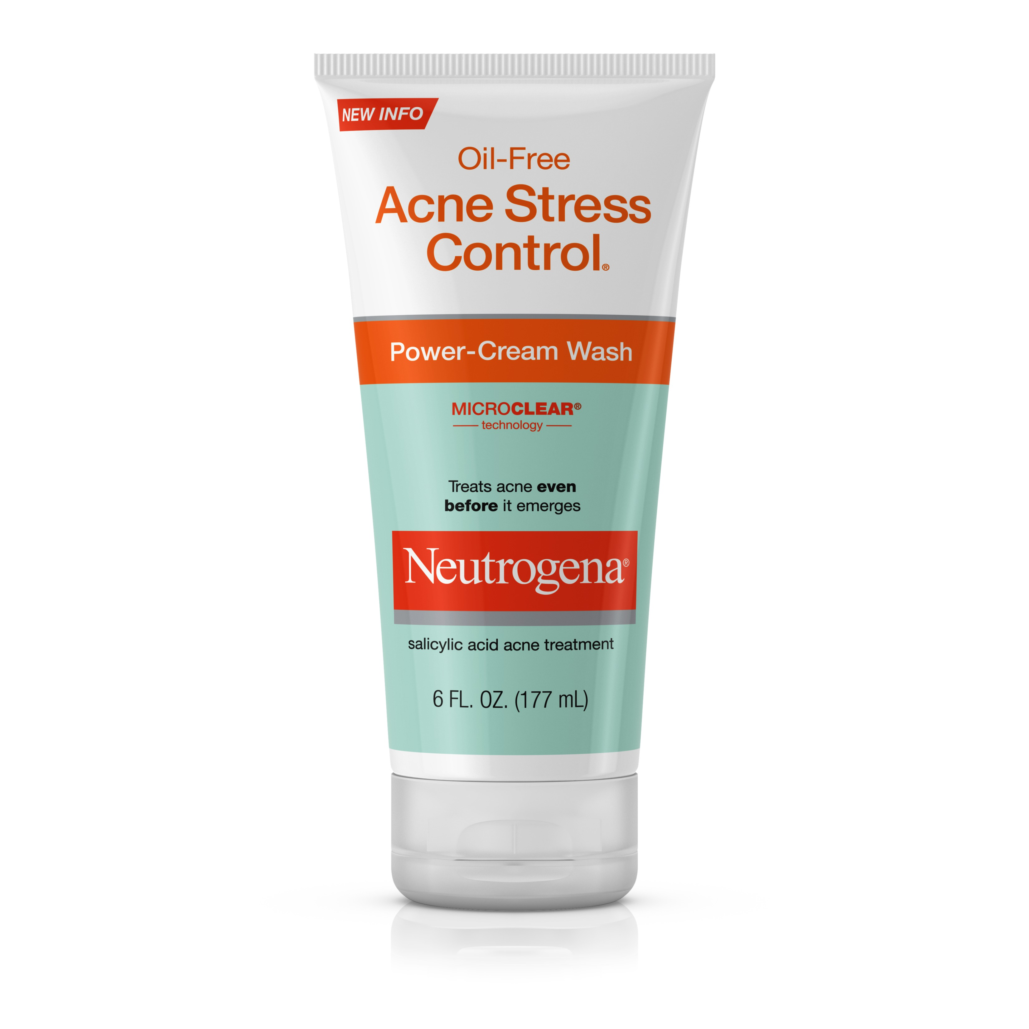 Neutrogena Oil-Free Acne Stress Control Power-Cream Wash, 6 Fl. Oz.
