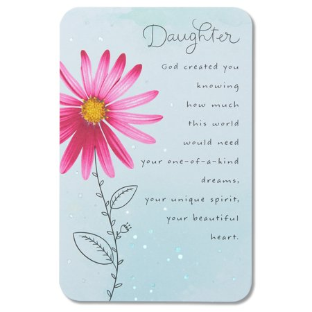 Religious Birthday Card For Daughter With Glitter