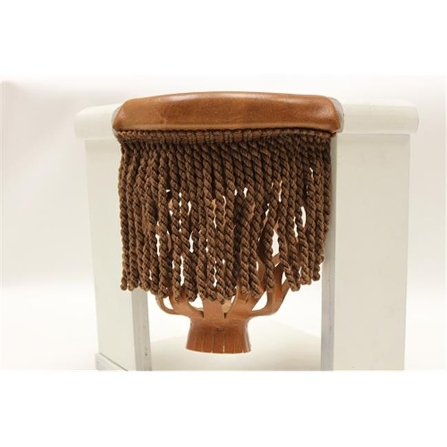 Hood Leather 996149 6 Pool Table Pockets Oak with Bronze Fringe