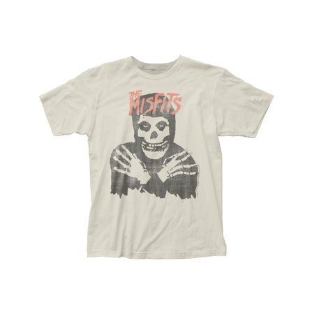 The Misfits Punk Rock Band Distressed Skeleton Adult Fitted Jersey T-Shirt Tee (Punk Rock Outfits)