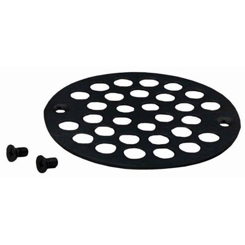 "Westbrass Brass Shower Strainer Grid with Screws, 4"", Oil Rubbed Bronze"