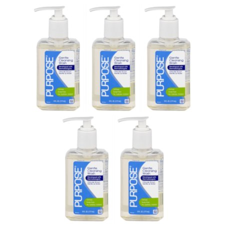 5 Pack Purpose Gentle Cleansing Face Wash 6 oz