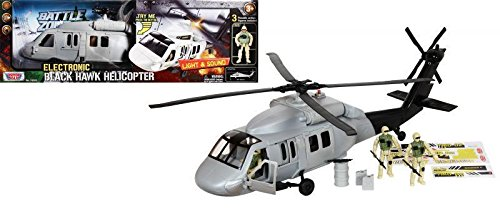Battle Zone: Lights & Sound Black Hawk Helicopter by Motor Max