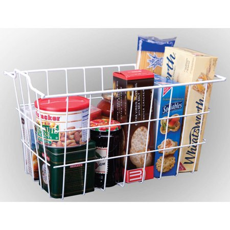 Basket Server - Panacea 40604 White Vinyl Coated Wire Storage Basket