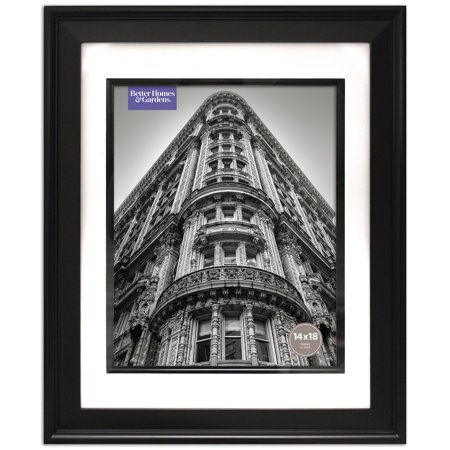 Better Homes and Gardens Beveled Black 14x18 Matted to 11x14 (Framed Beveled Glass)