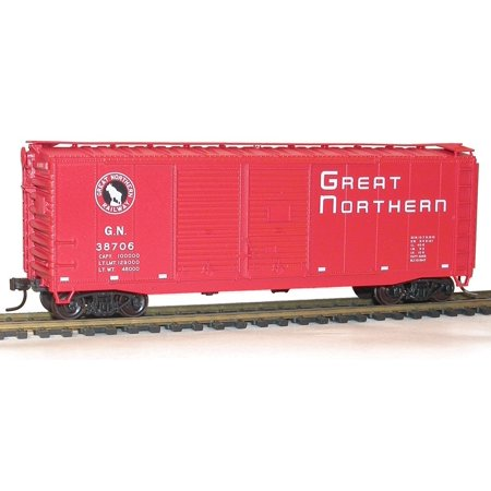 ACU3638 HO KIT 40' Double Sheath Box, GN/Empire Builder, Brand new in factory packaging. By Accurail (No Sheath Box Packaging)