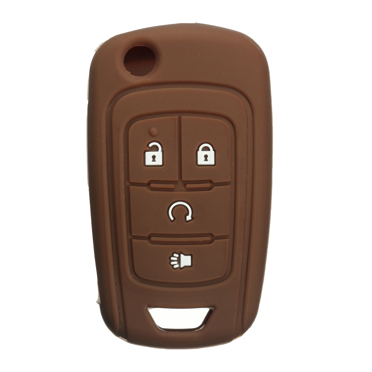 Silicone 4 Button Flip Remote Key Case Fob Protect Cover Shell Holder For Chevrolet GM Colored 12 Colors