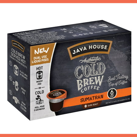 Java House Cold Brew Coffee Pods, Sumatran, 6 Count ()