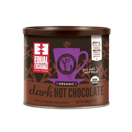 Equal Exchange Fair Trade Organic Dark Hot Chocolate Mix, 12 Ounces