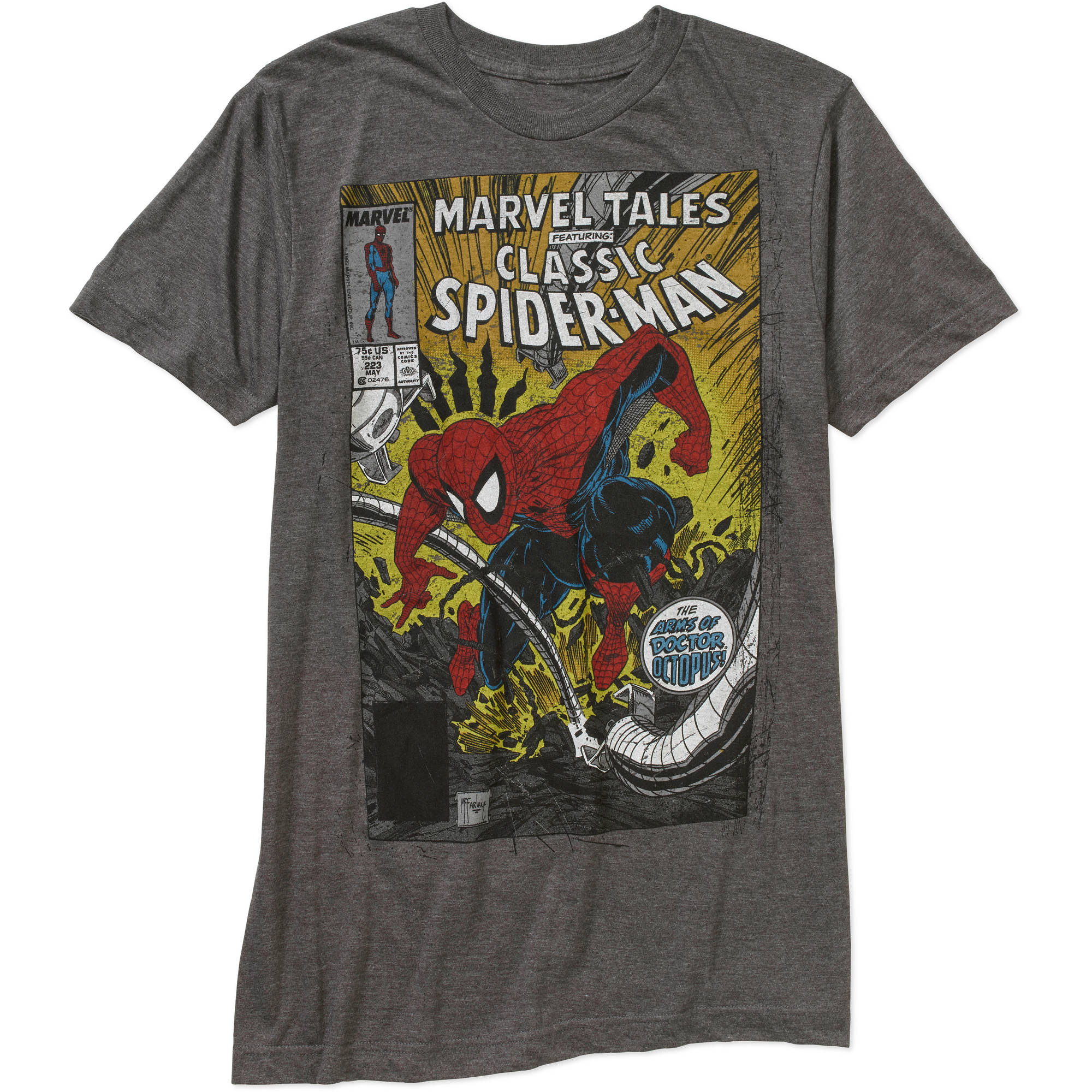 Marvel Spider-Man Men's Comic Tales Graphic Tee