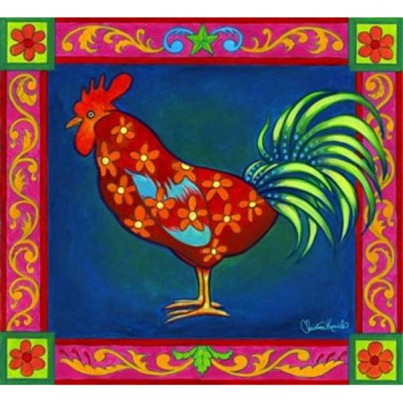 Mosaic Rooster Poster Print by Christine Kerrick - 26 x 24 in. - image 1 de 1
